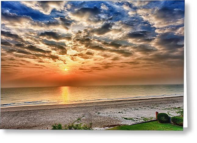 Cha-am Greeting Cards - Cha-am Sunrise Greeting Card by Thomas von Aesch