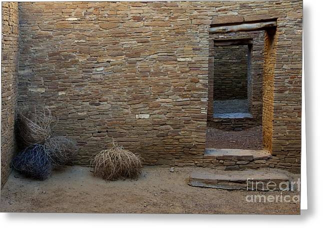 Native Architecture Greeting Cards - Chaco Canyon Doorways Greeting Card by Bob Christopher