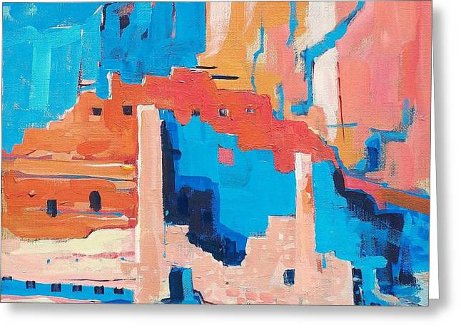 Edgar Payne Greeting Cards - Chaco Canyon Greeting Card by Micheal Jones