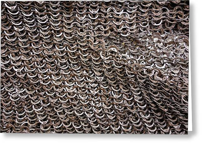 Chain Mail Greeting Cards - Chain armor detail Greeting Card by Matthias Hauser