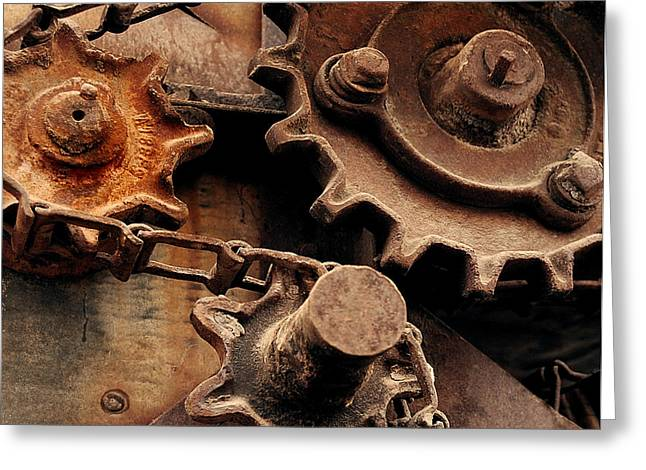 Chain Driven  Greeting Card by Steven Milner