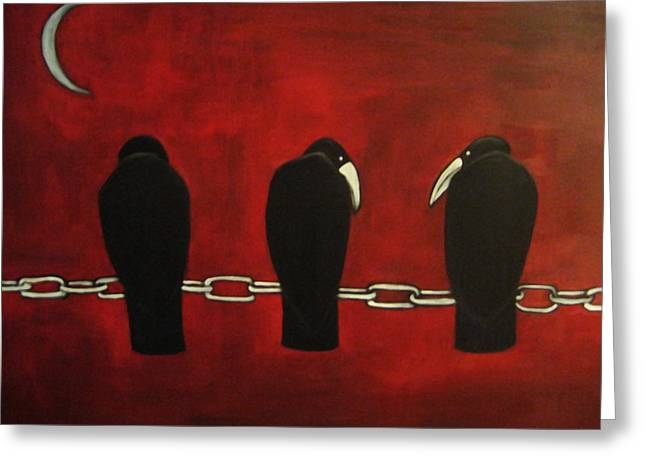 Chain Gang Greeting Cards - Chain Gang Greeting Card by Terrie Yeatts
