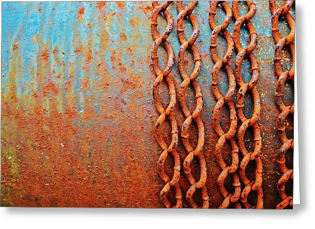 Zeitgeist Greeting Cards - Chains Greeting Card by Christina Walker