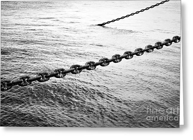 Resolve Greeting Cards - Chains Greeting Card by Dean Harte