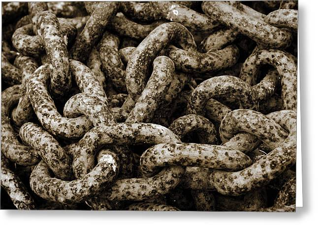 Chains Greeting Cards - Chains Greeting Card by Mark Rogan