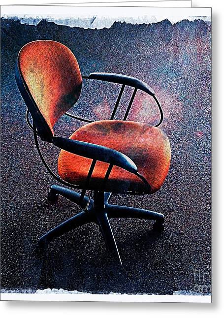 Empty Chairs Digital Greeting Cards - Chair 3 Greeting Card by Perry Webster