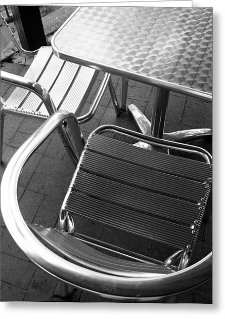 Architecture Greeting Cards - Chair and Table Greeting Card by Joe Kozlowski