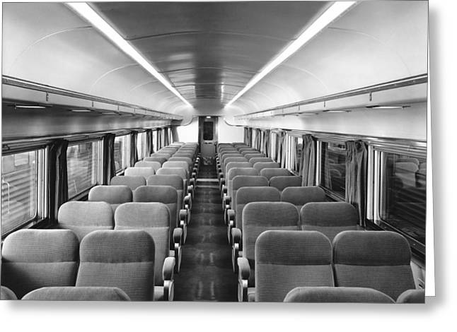 Chair Car On Denver Zephyr Greeting Card by Underwood Archives