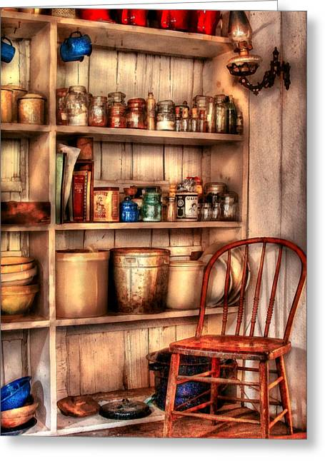 Corner Kitchen Greeting Cards - Chair - Chair in the Corner Greeting Card by Mike Savad