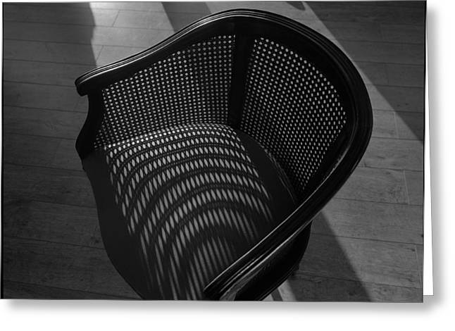 Shadowplay Greeting Cards - Chair Greeting Card by Chris Brink