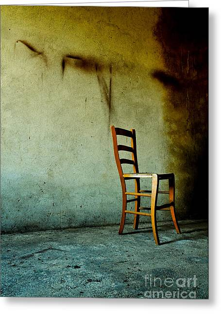 Go Away Greeting Cards - Chair Greeting Card by Emilio Lovisa