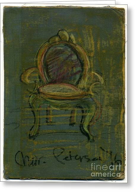 Chaise Drawings Greeting Cards - Chair Fetish 96 Greeting Card by Cathy Peterson