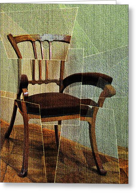 Stylistic Greeting Cards - Chair Greeting Card by Nikolyn McDonald