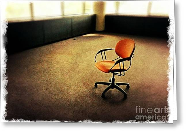 Empty Chairs Digital Greeting Cards - Chair Greeting Card by Perry Webster