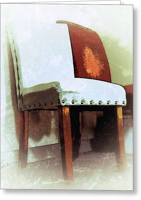 Rivets Paintings Greeting Cards - Chairs Greeting Card by Robert Smith