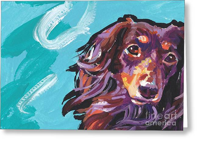 Doxie Greeting Cards - Chaka Dox Greeting Card by Lea