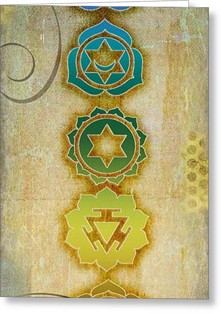 Yoga Greeting Cards - Chakra Journey I Greeting Card by Tara Catalano
