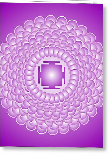 Chakra Rainbow Digital Greeting Cards - Chakra Mandala  7th Chakra Sahasrara Greeting Card by Sarah  Niebank