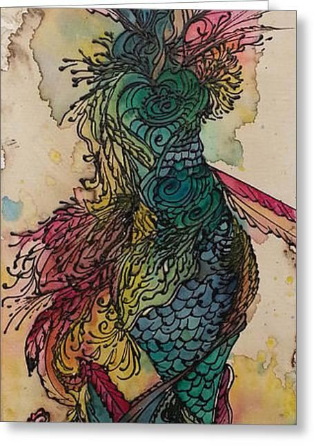 Crown Chakra Greeting Cards - Chakra Mermaid Greeting Card by Christy  Freeman