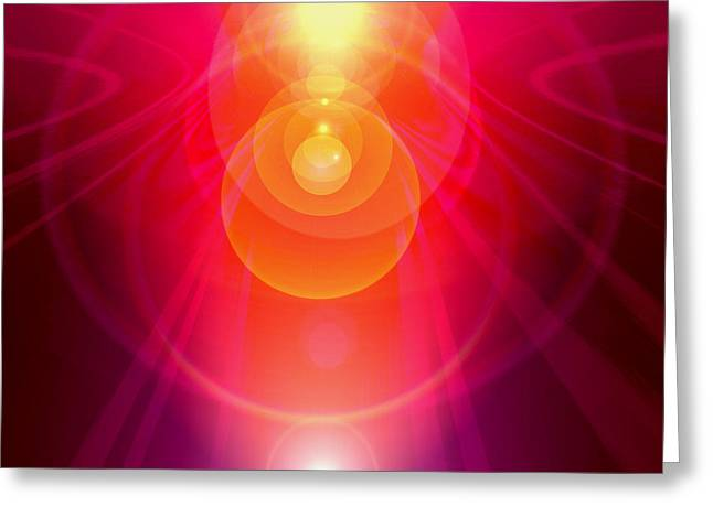 Wohnung Greeting Cards - Chakra-Portal Greeting Card by Ramon Labusch
