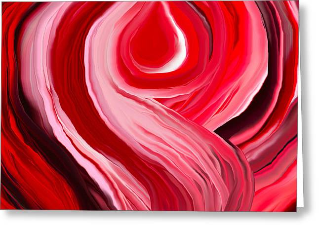 Red Chakra Greeting Cards - Chakra-RED Greeting Card by Linnea Tober