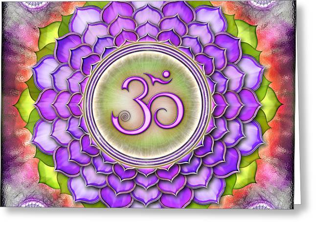 Therapy Greeting Cards - Chakra Sahasrara I Series 2012 Greeting Card by Dirk Czarnota