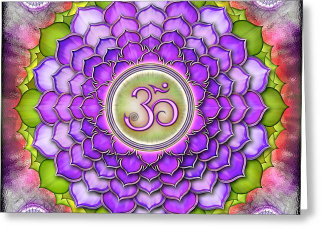 Energize Digital Greeting Cards - Chakra Sahasrara II Series 2012 Greeting Card by Dirk Czarnota