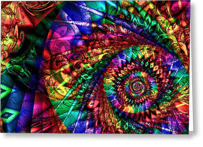 Chakra Rainbow Digital Greeting Cards - Chakra Tunnel Greeting Card by Kiki Art