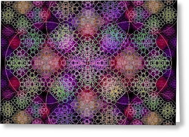 Chalice Cell Rings On Black Dk29 Greeting Card by Christopher Pringer
