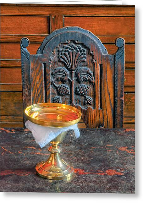 Marble Top Table Greeting Cards - Chalice Greeting Card by Dave Mills