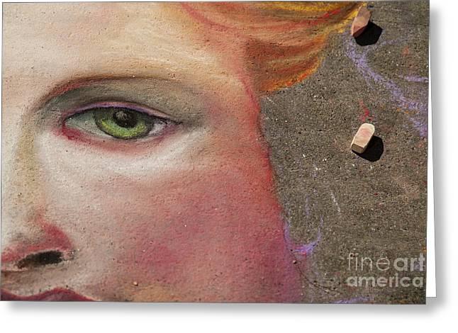 America Art Greeting Cards - Chalk Art Greeting Card by Juli Scalzi
