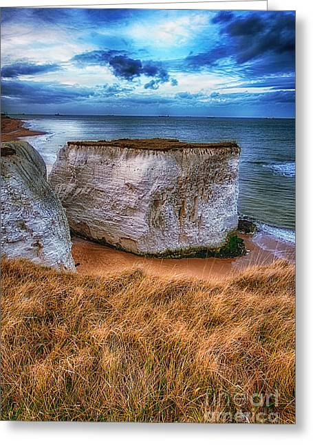 D700 Greeting Cards - Chalk Cliffs near Broadstairs Kent UK Greeting Card by Jack Torcello