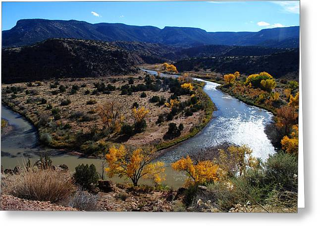 Chama River Greeting Cards - Chama River Bend Greeting Card by Glory Ann Penington
