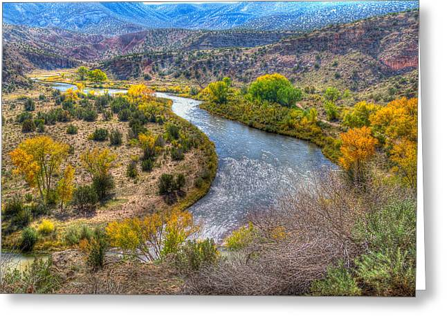 Chama River Greeting Cards - Chama River Overlook Greeting Card by Alan Toepfer