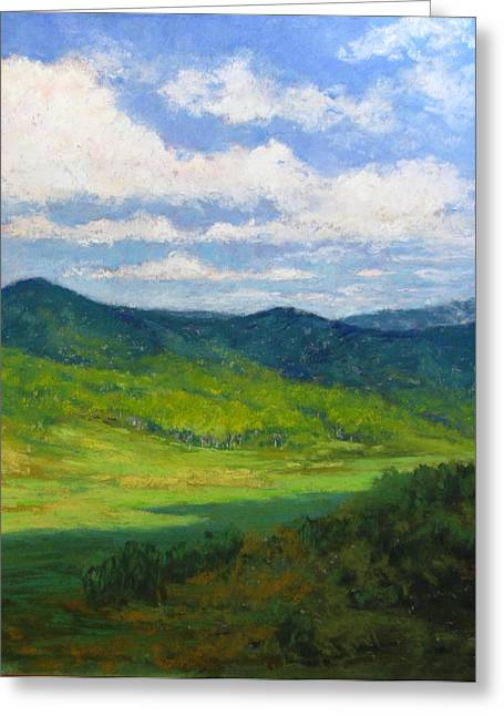 Mountain Valley Pastels Greeting Cards - Chama View Greeting Card by Sharon Frey