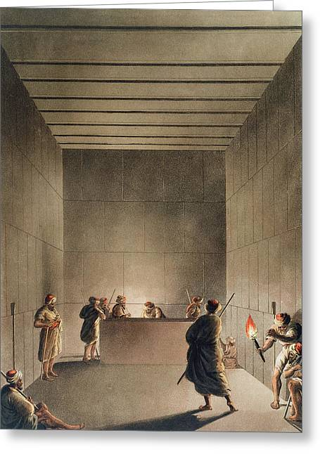 Tomb Greeting Cards - Chamber And Sarcophagus In The Great Greeting Card by Luigi Mayer