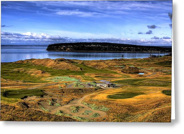 U.s. Open Photographs Greeting Cards - Chambers Bay Golf Course Greeting Card by David Patterson
