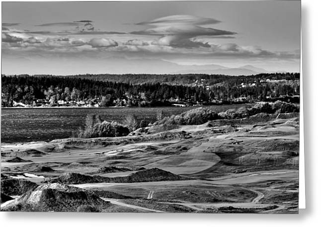 Us Open Greeting Cards - Chambers Bay Golf Course - Site of the 2015 U.S. Open Golf Tournament Greeting Card by David Patterson