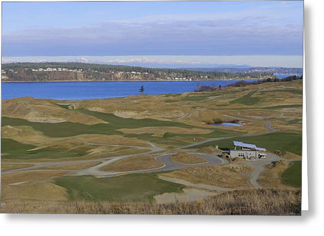 Us Open Photographs Greeting Cards - Chambers Bay Greeting Card by Jason Abington