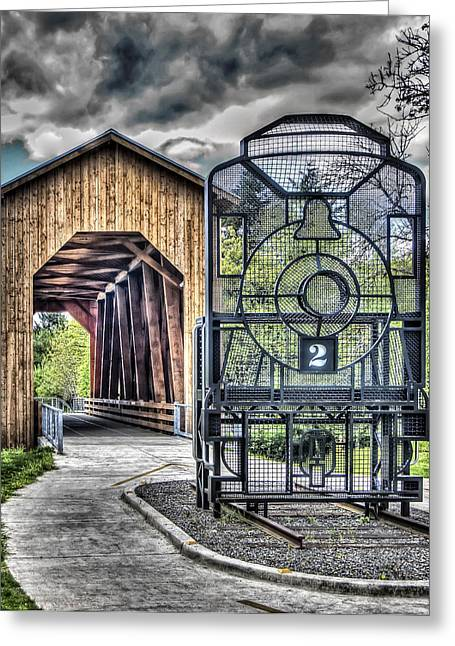 Covered Bridge Greeting Cards - Chambers Covered Bridge Greeting Card by Thom Zehrfeld