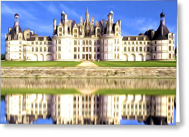 Summer Greeting Cards - Chambord castle Greeting Card by Lanjee Chee