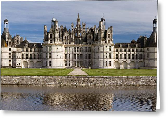 French Renaissance Greeting Cards - Chambord Castle Greeting Card by Nomad Art And  Design