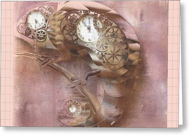 Chameleon - J039070015 -pink01a Greeting Card by Variance Collections