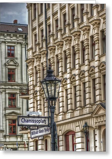 Streetlight Digital Art Greeting Cards - Chamissoplatz Greeting Card by Nathan Wright