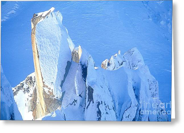 Midi Greeting Cards - Chamonix Aiguille Du Midi, French Alps Greeting Card by Adam Sylvester