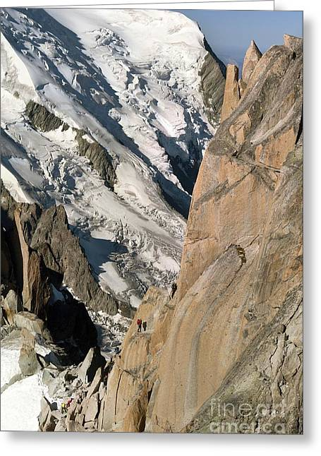 Midi Greeting Cards - Chamonix Aiguilles, French Alps Greeting Card by Duncan Shaw