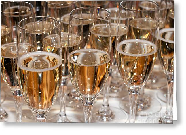 Sparkling Wine Greeting Cards - Champagne 01 Greeting Card by Rick Piper Photography