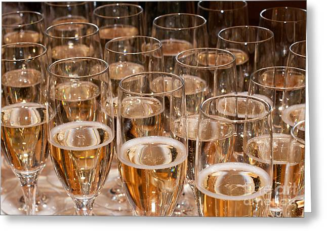 Sparkling Wine Greeting Cards - Champagne 02 Greeting Card by Rick Piper Photography