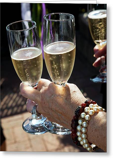 Champagne Celebration Greeting Card by Jim West