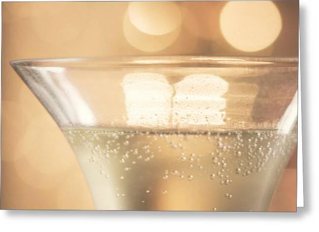 Champagne Celebration Greeting Card by Kim Fearheiley